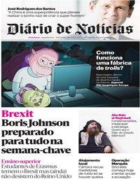 capa Diário de Notícias de 28 outubro 2019
