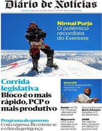 capa Diário de Notícias de 30 outubro 2019