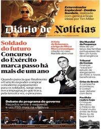 capa Diário de Notícias de 31 outubro 2019