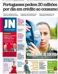 capa Jornal de Notícias de 1 outubro 2019