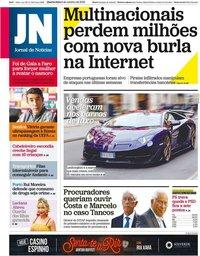 capa Jornal de Notícias de 2 outubro 2019