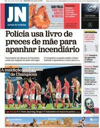 capa Jornal de Notícias de 3 outubro 2019