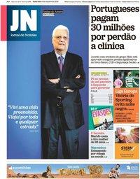 capa Jornal de Notícias de 4 outubro 2019