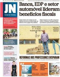 capa Jornal de Notícias de 5 outubro 2019