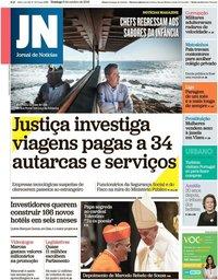 capa Jornal de Notícias de 6 outubro 2019