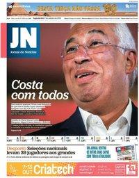 capa Jornal de Notícias de 7 outubro 2019