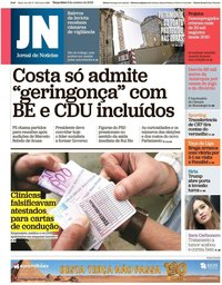 capa Jornal de Notícias de 8 outubro 2019