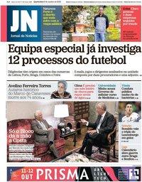 capa Jornal de Notícias de 9 outubro 2019