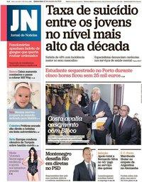 capa Jornal de Notícias de 10 outubro 2019
