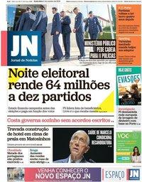 capa Jornal de Notícias de 11 outubro 2019