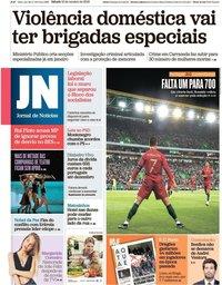 capa Jornal de Notícias de 12 outubro 2019