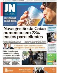 capa Jornal de Notícias de 13 outubro 2019