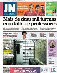 capa Jornal de Notícias de 14 outubro 2019