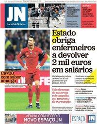 capa Jornal de Notícias de 15 outubro 2019