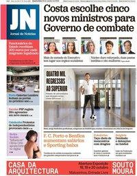 capa Jornal de Notícias de 16 outubro 2019
