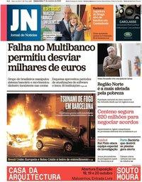 capa Jornal de Notícias de 17 outubro 2019