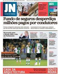capa Jornal de Notícias de 18 outubro 2019