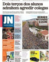 capa Jornal de Notícias de 19 outubro 2019