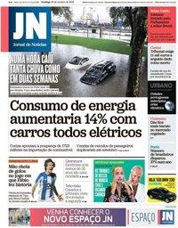 capa Jornal de Notícias de 20 outubro 2019