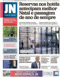 capa Jornal de Notícias de 21 outubro 2019