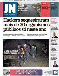capa Jornal de Notícias de 22 outubro 2019