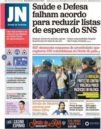 capa Jornal de Notícias de 23 outubro 2019