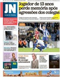 capa Jornal de Notícias de 25 outubro 2019