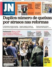 capa Jornal de Notícias de 26 outubro 2019