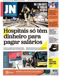 capa Jornal de Notícias de 27 outubro 2019