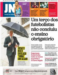capa Jornal de Notícias de 29 outubro 2019