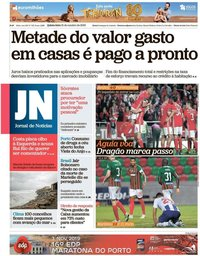 capa Jornal de Notícias de 31 outubro 2019