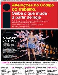 capa Jornal i de 1 outubro 2019