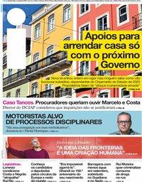 capa Jornal i de 2 outubro 2019