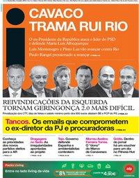 capa Jornal i de 9 outubro 2019
