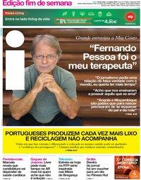 capa Jornal i de 11 outubro 2019