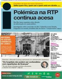 capa Jornal i de 14 outubro 2019