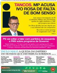 capa Jornal i de 15 outubro 2019