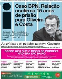 capa Jornal i de 17 outubro 2019