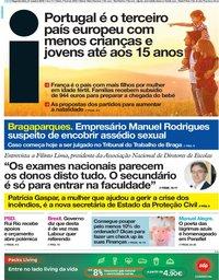 capa Jornal i de 21 outubro 2019