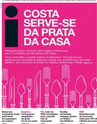 capa Jornal i de 22 outubro 2019