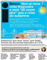 capa Jornal i de 23 outubro 2019