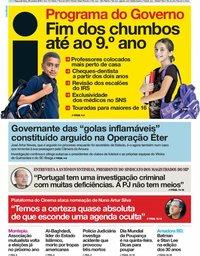 capa Jornal i de 28 outubro 2019