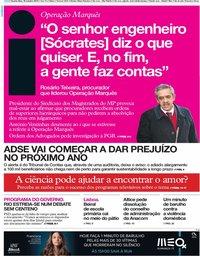 capa Jornal i de 30 outubro 2019