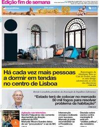 capa Jornal i de 31 outubro 2019