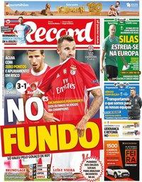 capa Jornal Record de 3 outubro 2019