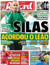 capa Jornal Record de 5 outubro 2019