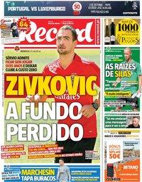 capa Jornal Record de 6 outubro 2019