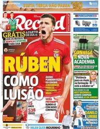 capa Jornal Record de 8 outubro 2019