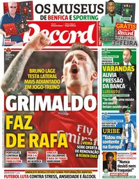capa Jornal Record de 10 outubro 2019
