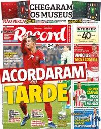 capa Jornal Record de 15 outubro 2019